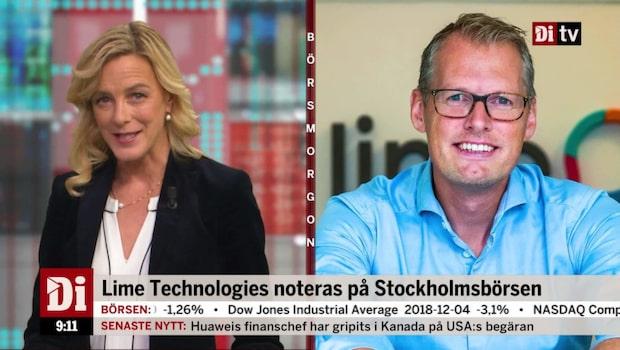 Lime Technologies vd om bolagets notering