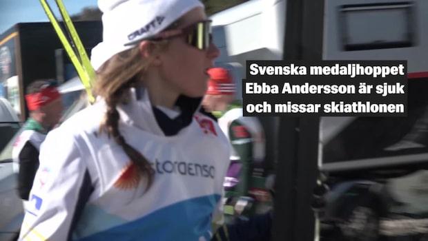 Ebba Andersson sjuk – missar skiathlon