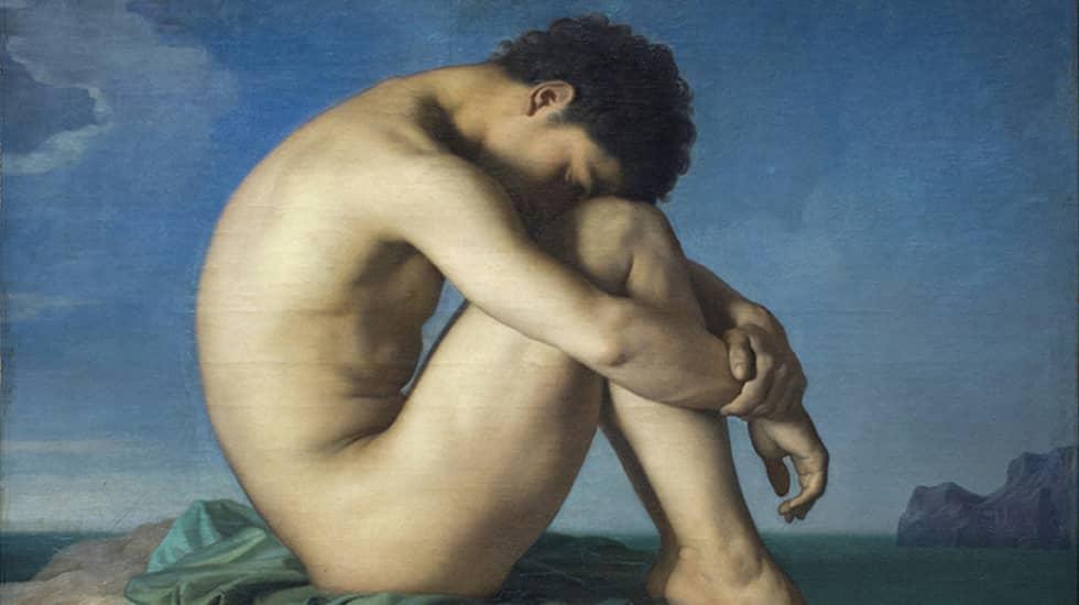 """Hippolyte Flandrins """"Jeune homme nu"""" (1836)."""