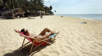 Kilometer efter kilometer av fin sand sträcker sig över Phu Quoc. Stora delar ligger helt öde.