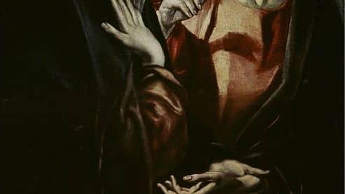 """Sensuellt? """"Jesus och Marias avsked"""" målades under början av 1600-talet av El Greco."""