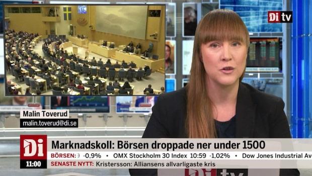 Di Nyheter 11.00 14 novemeber - riksdagen röstade nej till Ulf Kristersson