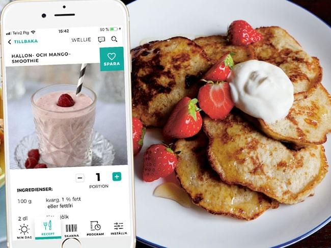 I hälsoappen Wellie finns över 100 goda frukostrecept. Alla genomgångna av näringsexperter.