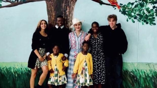 Madonnas bild visar upp återföreningen