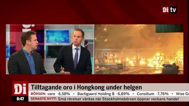 """Von Sydow: """"Våldsamma demonstrationer i Hongkong - det nya normala"""""""