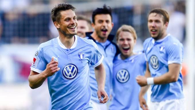 Markus Rosenberg ska ännu en gång få Malmö att jubla genom att för tredje gången på fyra år nå Champions League. Foto: LUDVIG THUNMAN / BILDBYRÅN