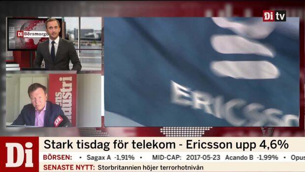 Bra dag för Ericsson på börsen i går