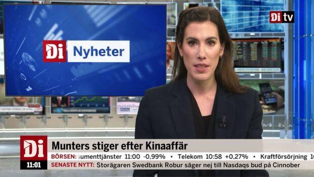 Di Nyheter 11.00 14 december - Munters stiger efter Kinaaffär