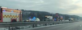 JUST NU: Kollision vid vägarbete på E6