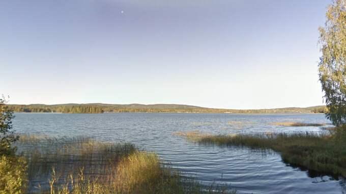 Mannen kämpade för sitt liv i Nysockensjön i Åmotfors. Foto: Google