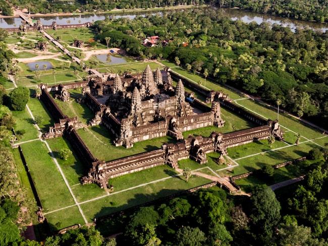 Det berömda tempelkomplexet från ovan.