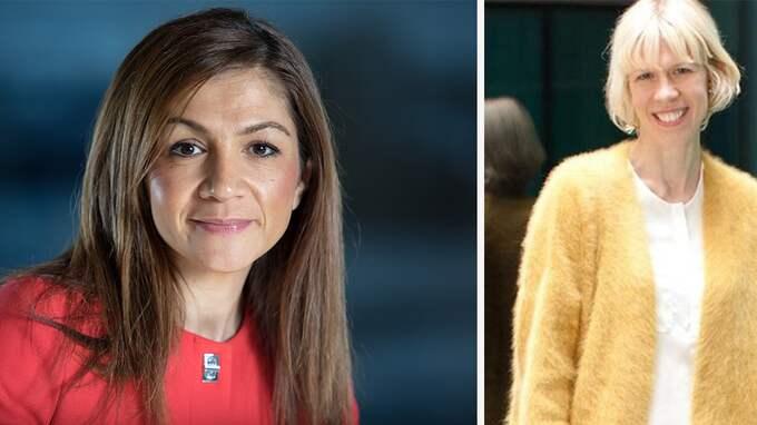 Gulan Avci, ordförande Liberala Kvinnor, och Maria Nilsson, försvarspolitisk talesperson Liberala Kvinnor