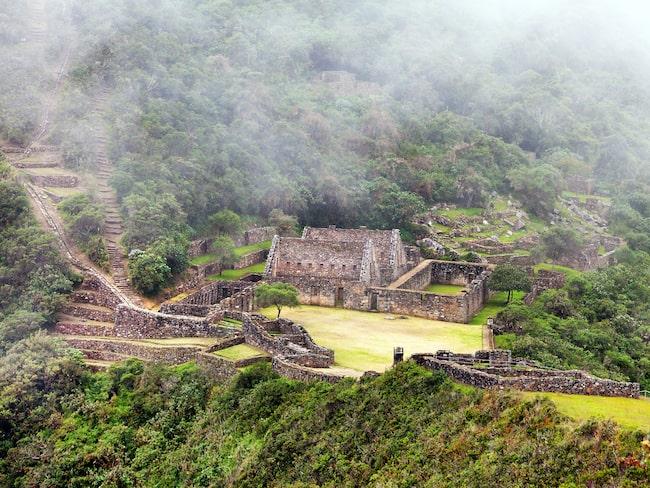 Choquequirao var en av inkafolkets tillflyktsorter under den spanska invasionen under 1500-talet.