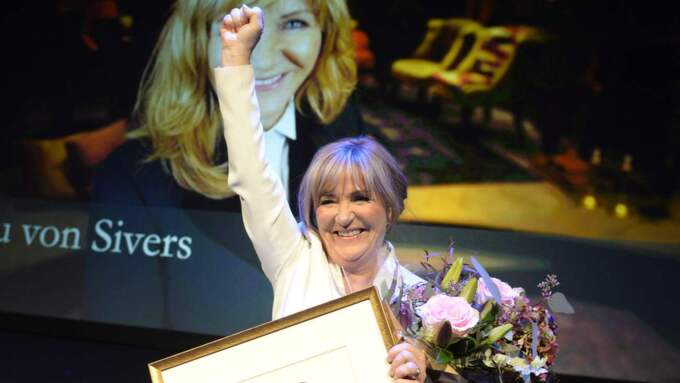 Malou von Sivers tilldelades Lukas Bonniers Stora Journalistpris. Foto: Anna-Karin Nilsson