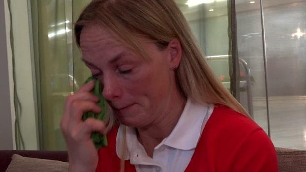 """Sara Algotsson Ostholt i tårar: """"Det är otroligt tungt"""""""