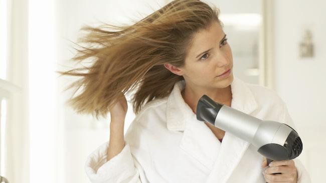 <span>Det är inte alltid tiden finns att torka hårt med hårfön.</span>