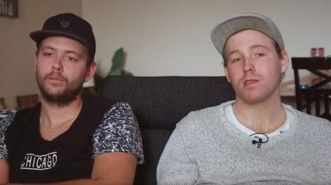 """Christian och Robin träder för första gången fram och pratar om fallet i SVT:s """"Dokument inifrån"""". Foto: SVT"""