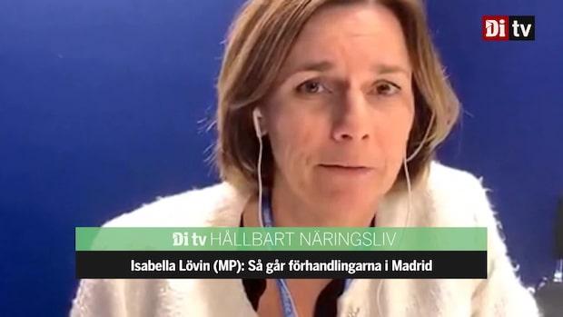Se hela intervjun med Isabella Lövin (MP) från klimattoppmötet
