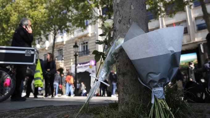 Under torsdagskvällen inträffade en skjutning i Frankrike. Polisen utesluter inte att det kan handla om ett terrorbrott. Foto: Christophe Ena / AP TT NYHETSBYRÅN