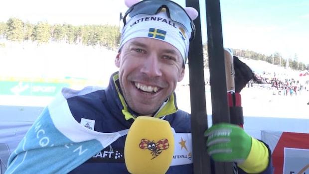 """Emil Jönssons tårfyllda hälsning: """"Tack för allt"""""""