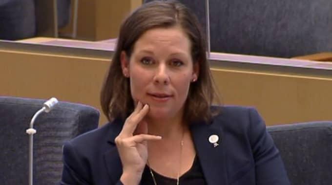 Maria Malmer Stenergard anser att ministern ska be om ursäkt för uttalandet. Foto: Riksdagen