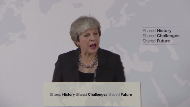Theresa May talade om brexit under FN-mötet