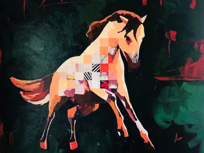 """My Little Pony"""" - en häst som ger känslan av att vara på väg ut ur duken."""