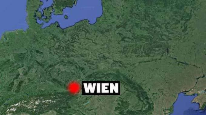 Flickan ställs inför rätta i Wien. Foto: Google Earth/Expressen
