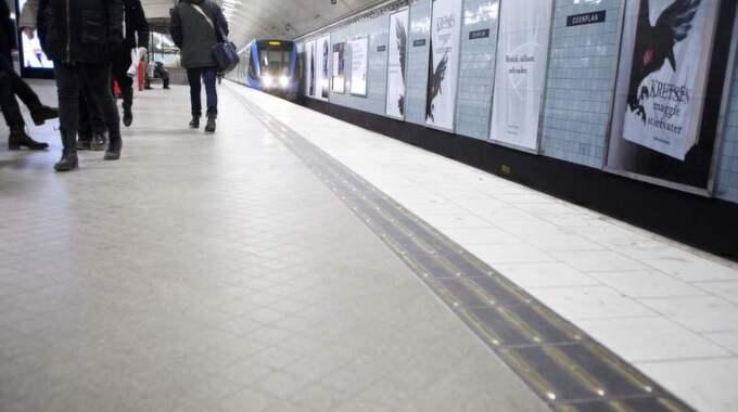 Gabriella Ahlström skriver om sin resa i Stockholms tunnelbana. Bilden är tagen vid ett tidigare tillfälle. Foto: Lisa Mattisson