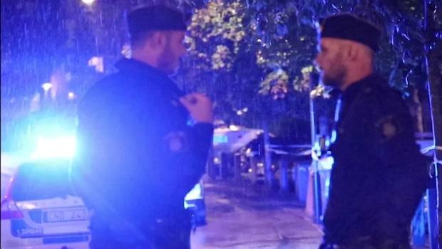En person skjuten i Farsta i Stockholm