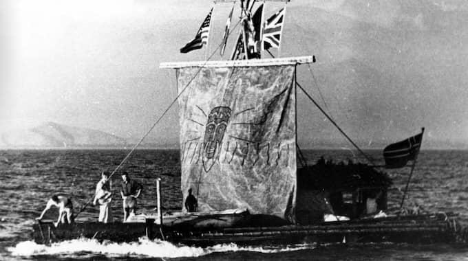 Originalet. Kon-Tiki som reste från Peru till Polynesien 1947. Foto: AP