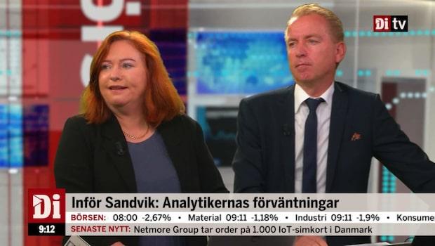 Sandvik-aktien backar inför rapporten