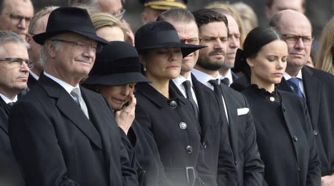 Kungafamiljen närvarade vid ceremonin. Foto: Anna-Karin Nilsson