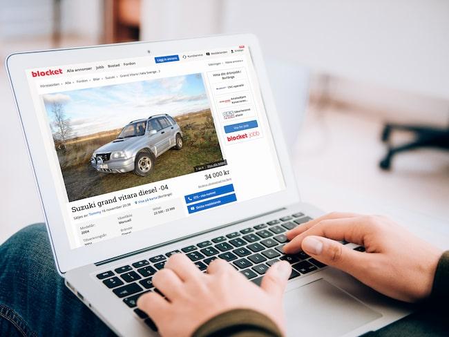 Suzuki Grand Vitara är den suv som säljs allra snabbast på Blocket just nu.