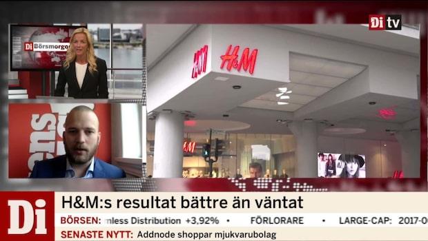 H&M:s resultat bättre än väntat