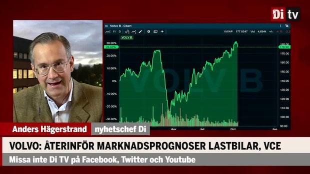 Hägerstrand om AB Volvo: Borde kunna vara en väldigt hög utdelning nästa år