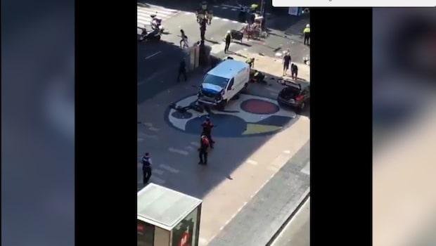 """Vittne: """"Polisen var väldigt snabbt på plats"""""""
