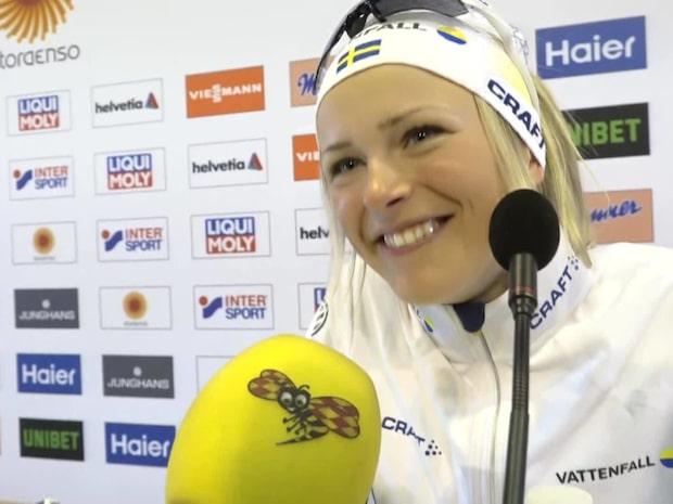 """Frida Karlsson efter hyllningarna: """"Oj, vad fina ord"""""""
