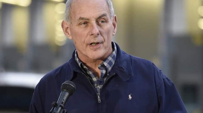Inrikessäkerhetsminister John Kelly. Foto: Denis Poroy / AP TT NYHETSBYRÅN