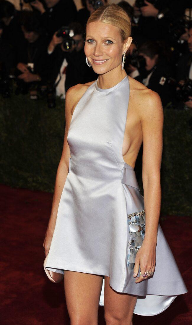 Skådespelerskan Gwyneth Paltrow på en av många galapremiärer i Hollywood.
