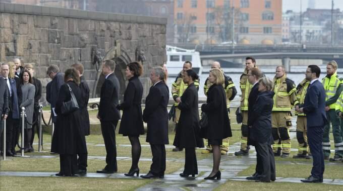Fyra människor avled under fredagens attack i Stockholm. Foto: / Anna-Karin Nilsson