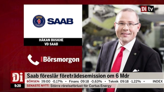 """Saabs vd: """"Håller vår prognos för helåret"""""""