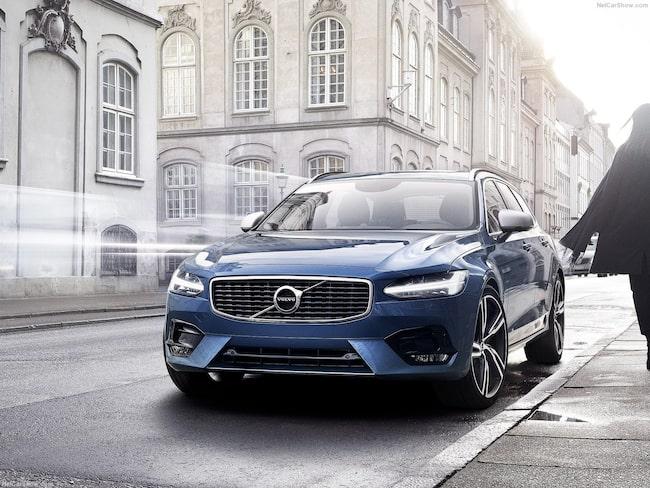 """Volvos V90 med hybridmotorn T8 får Folksams utmärkelse """"bra val""""."""
