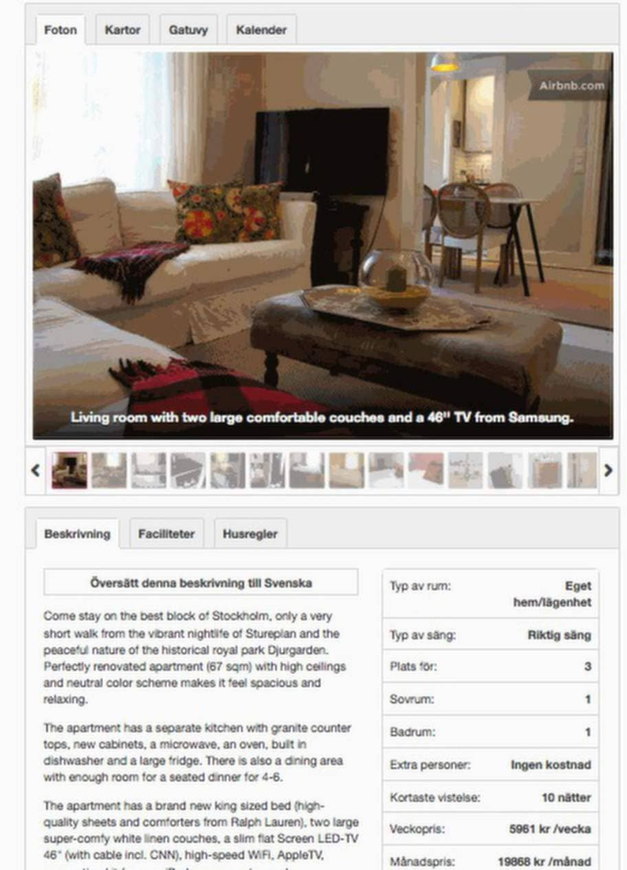 Moderaternas kommunikationschef och hans flickvän hyrde ut sin lägenhet genom en amerikansk uthyrningssajt.
