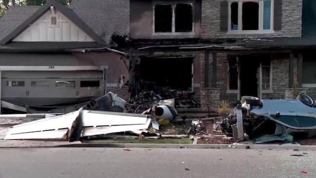 Paret bråkade - mannen kraschade ett flygplan i familjens hus