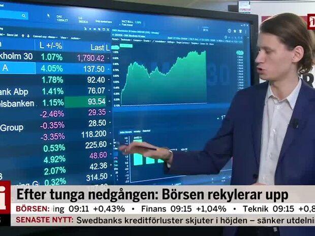 Marknadskoll: Banksektorn lyfter efter Swedbanks rapport