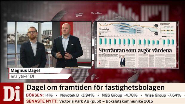 """Magnus Dagel om minskade avkastningskraven: """"Fastighetsvärdena går upp"""""""