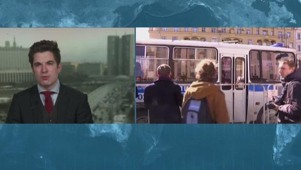 Stora protester mot korruption i Ryssland