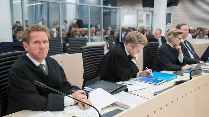 Norges justitieminister Fredrik Sejersted i rätten. Foto: JUNGE, HEIKO / NTB SCANPIX / TT NYHETSBYRÅN