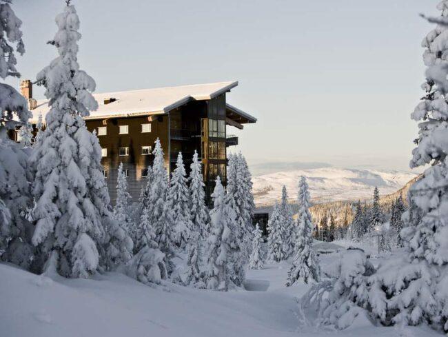 Femstjärniga Copperhill Mountain Lodge ligger förnämt på Förberget i Åre.
